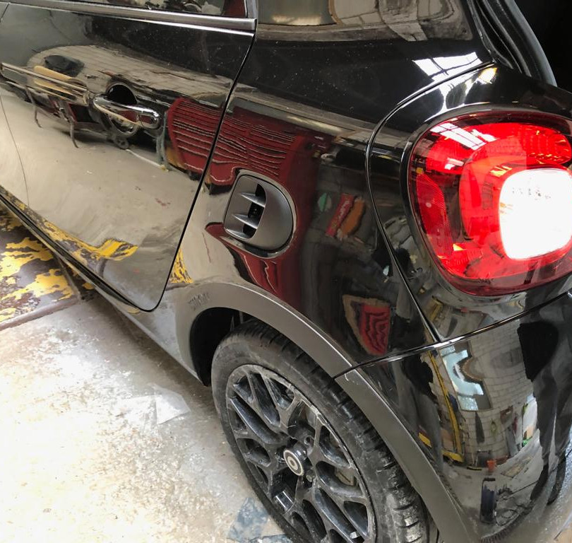 Rear bumper repair and repaint