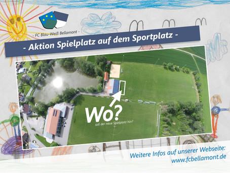 Aktion Spielplatz auf dem Sportplatz