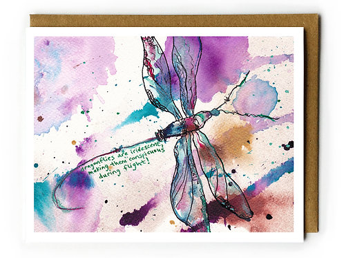 Dragonflies are Iridescent - Blank Card