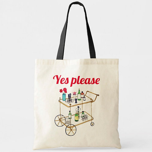 Old Timey Bar Cart - Tote Bag