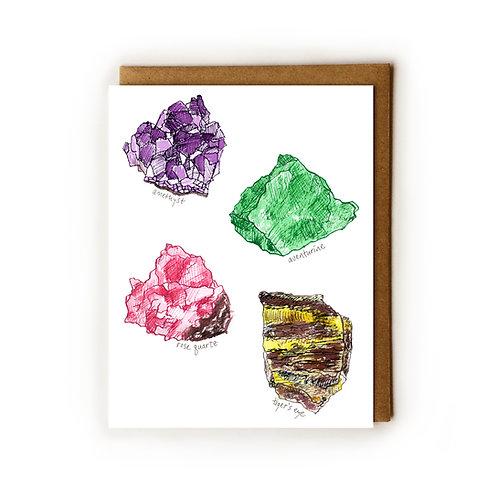 Raw Crystals - Blank Card