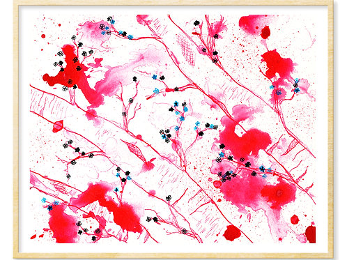 Cherry Blossoms in Pink - Print