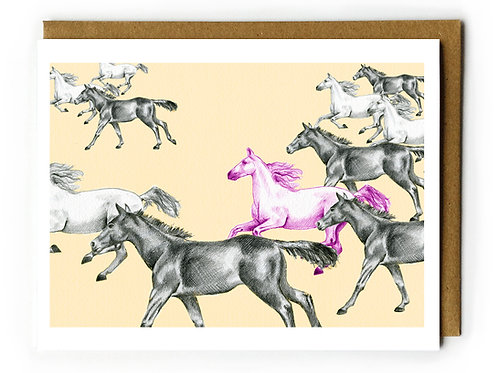 Horse of a Different Color - Blank Card
