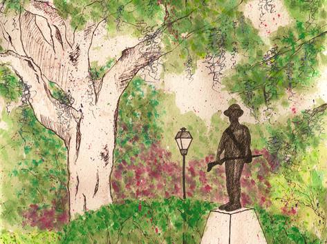 The Hiker, Forsyth Park