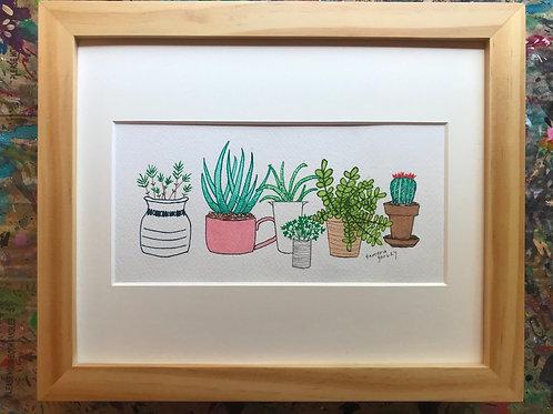 Plants & Pots - Original Painting