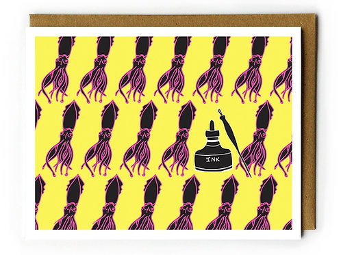 Squid Inky - Blank Card