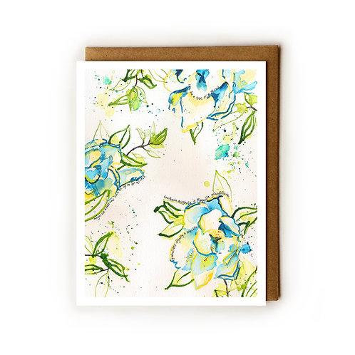 Savannah Magnolias - Blank Card
