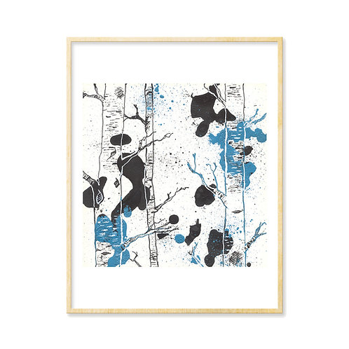 Black & Blue Forest 3 - Print