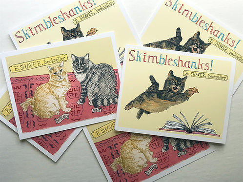 E. Shaver Bookstore Cats (Savannah, GA) Card Set - Boxed Set of 6