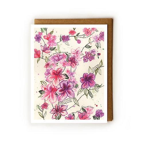 Savannah Azaleas - Blank Card