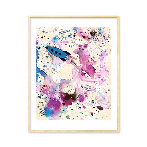 Outer Space Blast Off! - Print