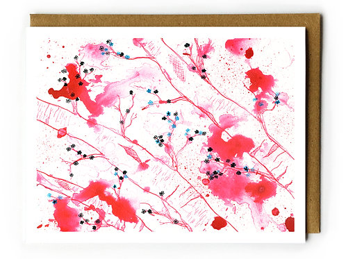 Cherry Blossoms in Pink - Blank Card
