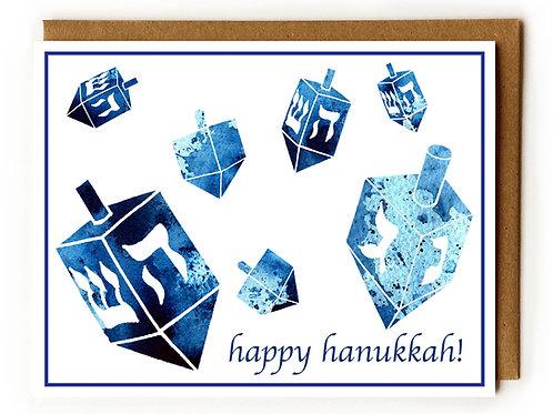 Hanukkah Dreidels - Blank Card