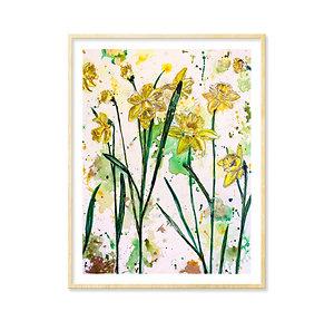 Gerard de Nerval (daffodils) - Print