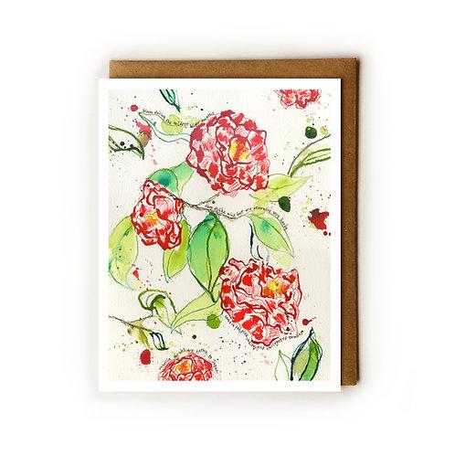 Savannah Camellias - Blank Card