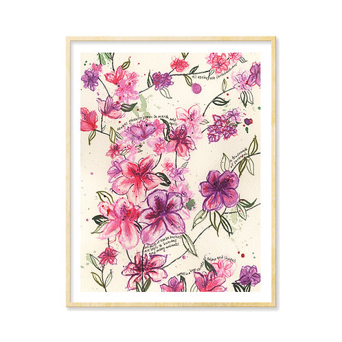 Savannah Azaleas - Print