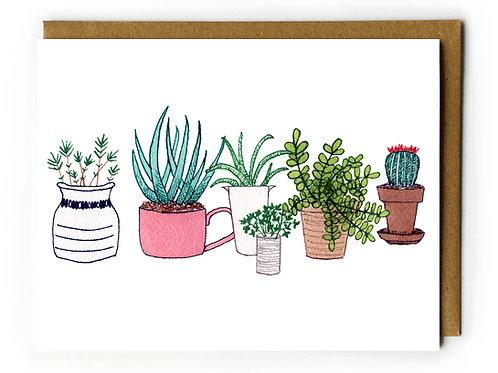 Plants & Pots - Blank Card