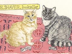 Bartleby and Eliot on rug (E. Shaver Books)