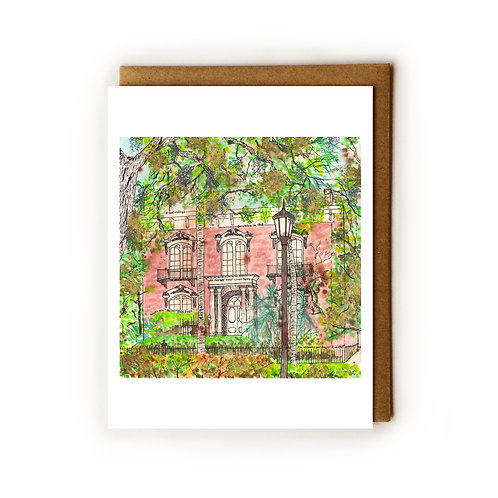 Mercer House Golden Glow (Savannah, GA) - Blank Card