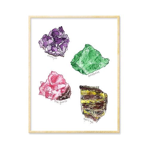 Raw Crystals - Print
