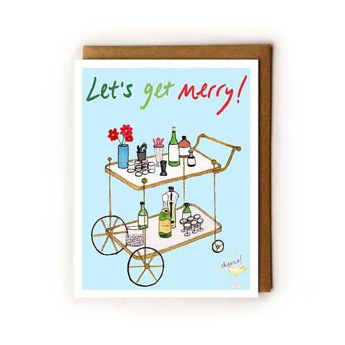 Let's Get Merry! - Blank Card
