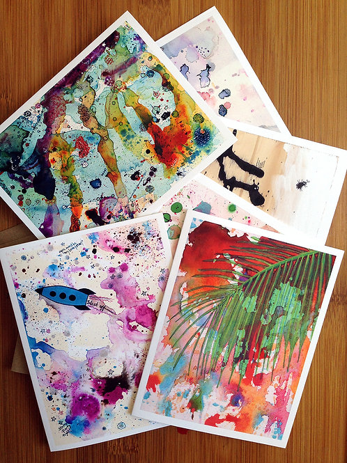 Abstracts Card Set - Boxed Set of 6