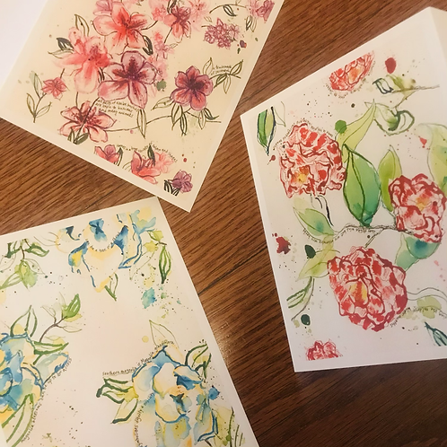 Flowers of Savannah, GA Card Set - Boxed Set of 6