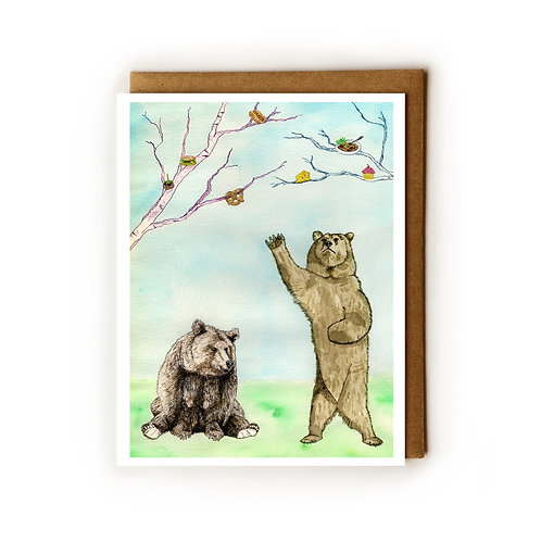 Hungry Hungry Bears - Blank Card