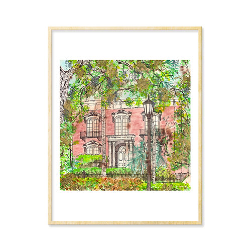 Mercer House Golden Glow (Savannah, GA) - Print
