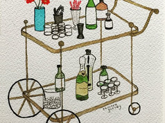 Old Timey Bar Cart
