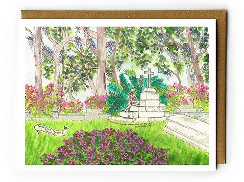 Bonaventure Cemetery, Corinne Lawton - Blank Card