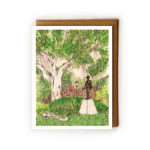 The Hiker, Forsyth Park (Savannah, GA) - Blank Card