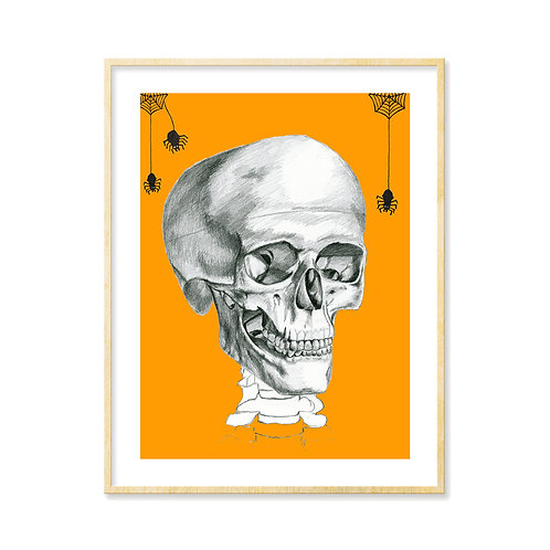 Skull & Spider (choice of colors) - Print