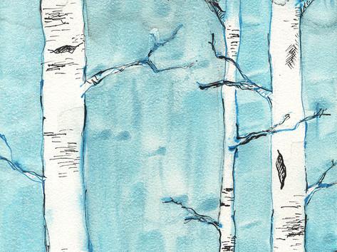 Black & Blue Forest II