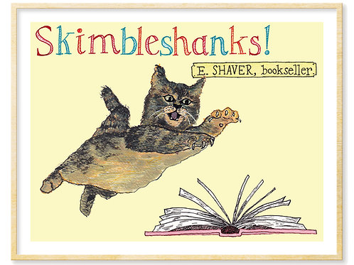 Skimbleshanks, E. Shaver Bookstore Cat (Savannah, GA) - Print