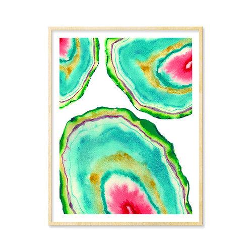 Watermelon Geode Slices - Print