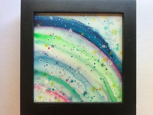 Agate Slice Night Stars - Original Painting