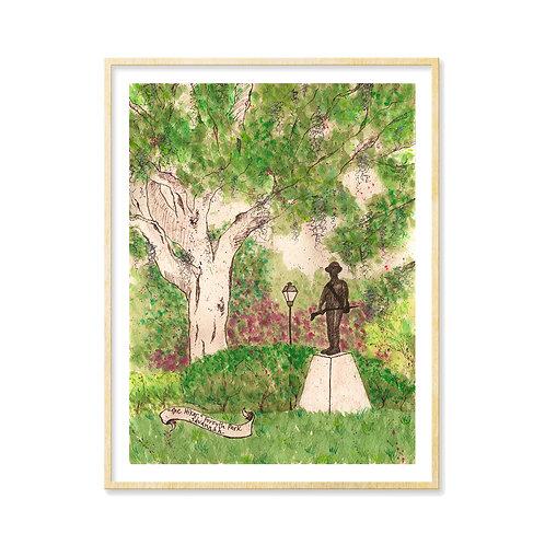 The Hiker, Forsyth Park (Savannah, GA) - Print