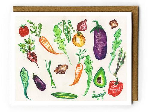 Veggies 2 - Blank Card