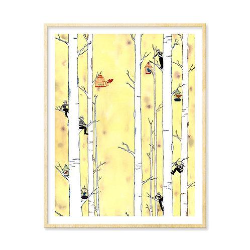 Burglars & Birdcages - Print