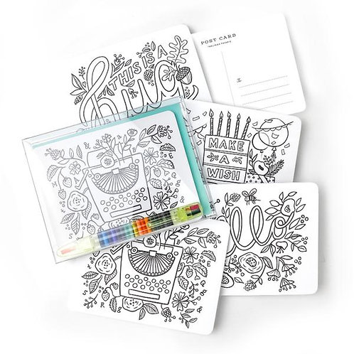 Colour in Postcard Kit