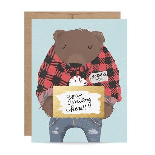 Bear Scratch Off Card