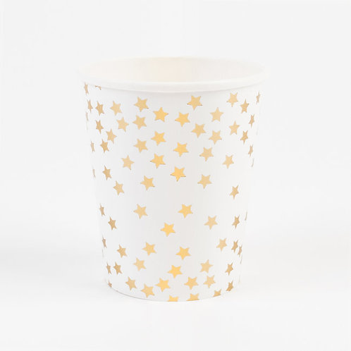 Gold Foil Star Cups