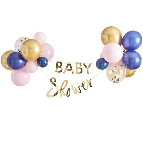 Gold Baby Shower Balloon Bunting Kit