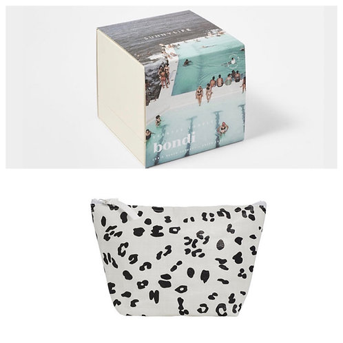 Bondi Candle and Leopard Beach Pouch