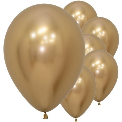 Gold Reflex Latex Balloons