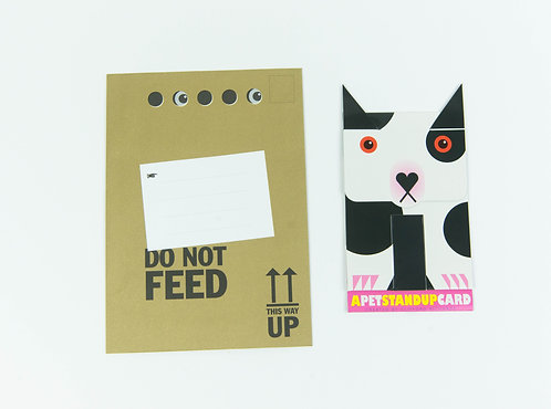 Biff the Dog Stand Up Card