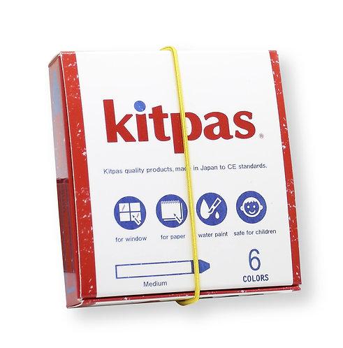 Kitpas Medium Crayons - 6 colours