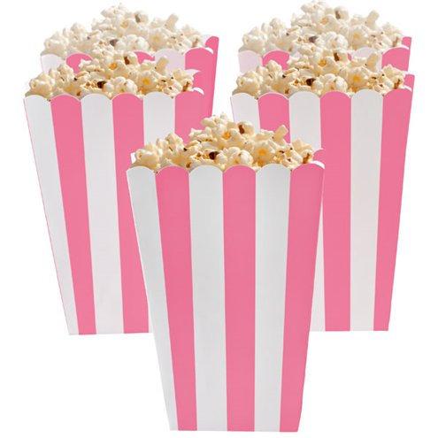 Pink Stripe Popcorn Boxes