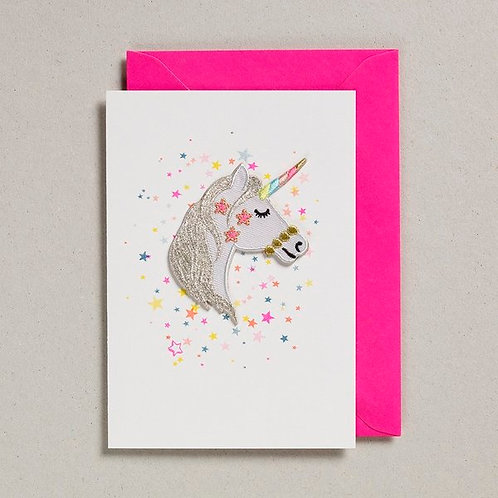 Petra Boase Iron on Unicorn Card